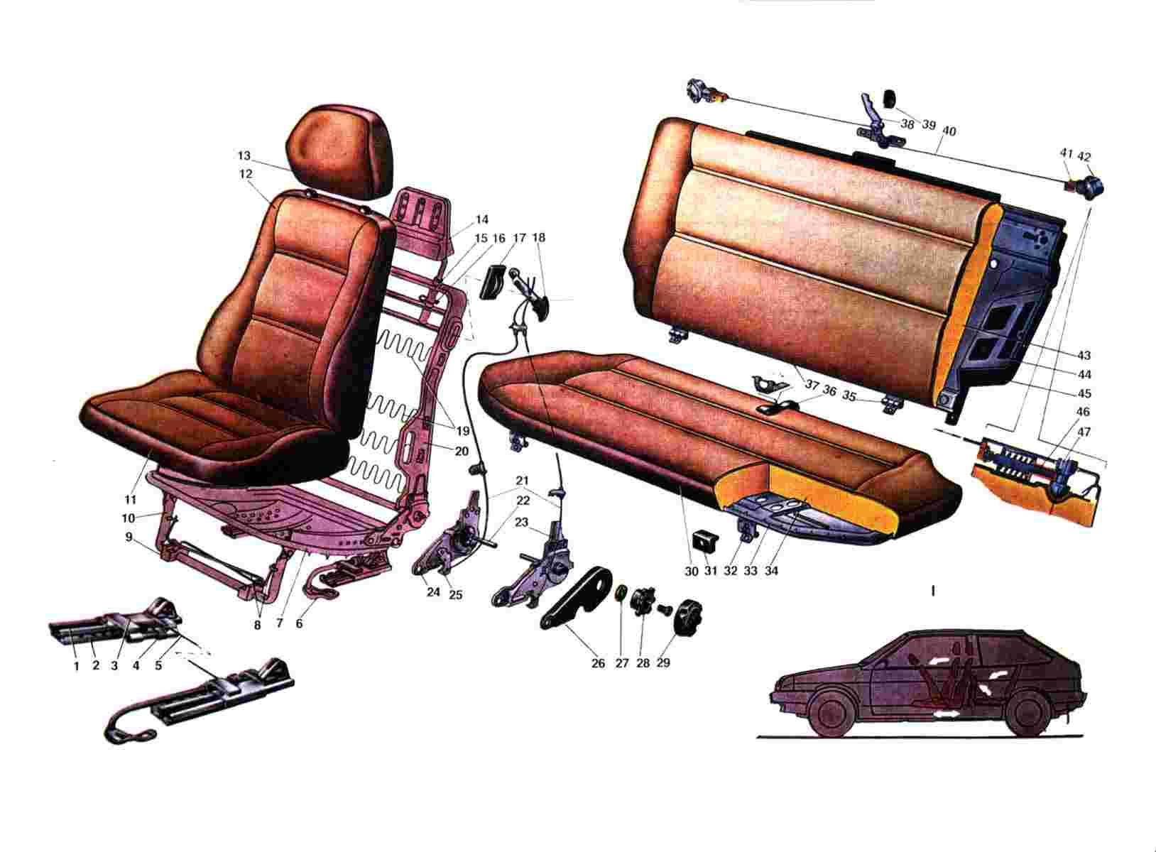 Сделать сиденья самому